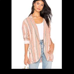 NWT Free People oversized blazer simply stripes M